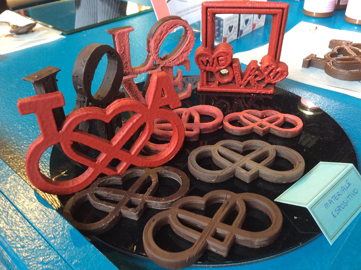 Cioccolato 3D realizzato da T'a Milano